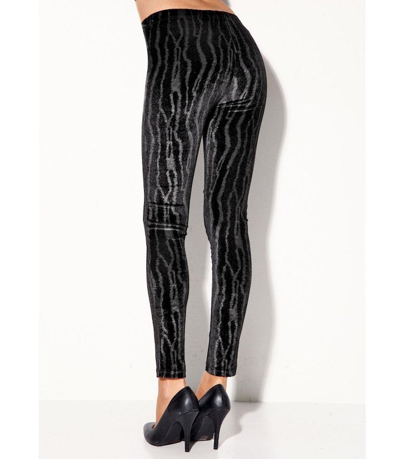 Legging mujer estampado elástico - Negro