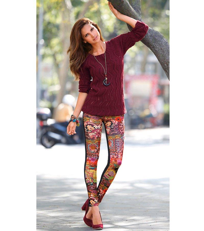 Pantalón legging mujer estampado