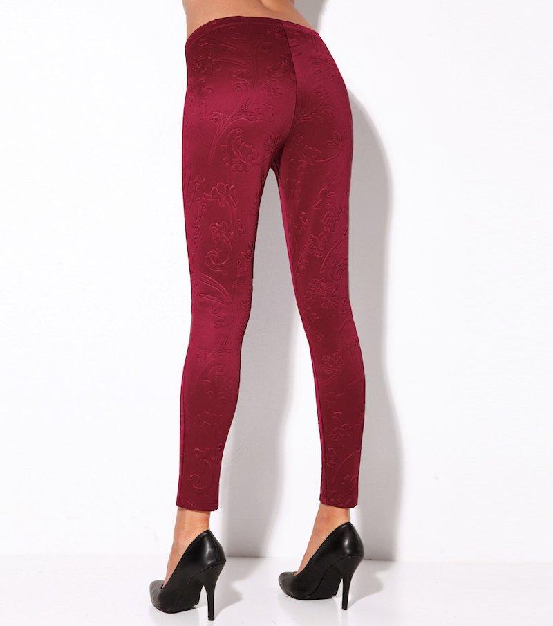 Pantalón legging mujer tejido brocado - Negro
