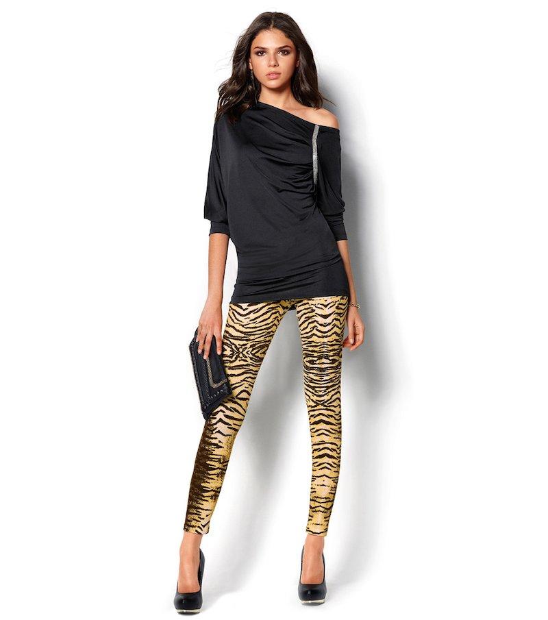 Pantalón legging mujer punto estampado