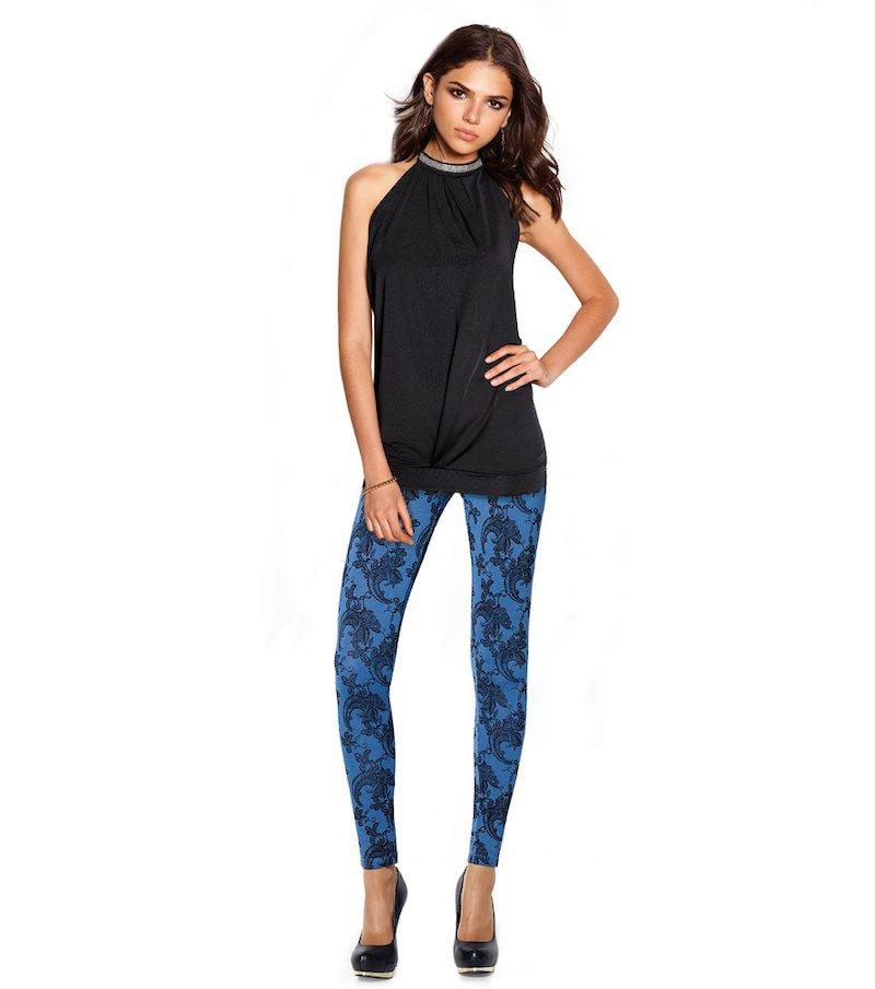 Pantalón largo legging mujer elástico estampado