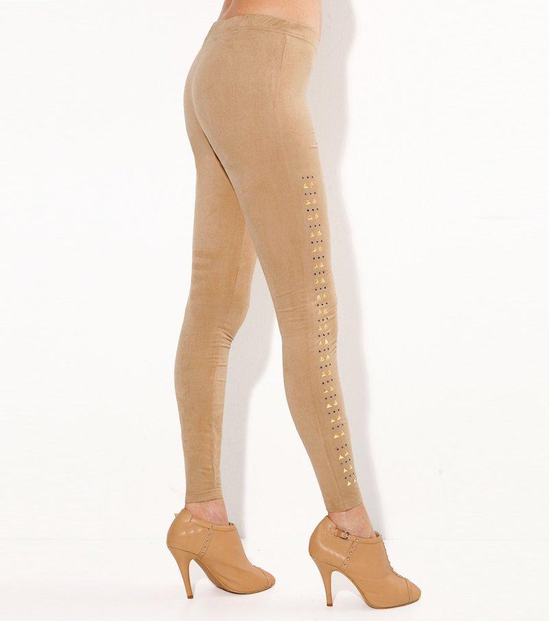 Legging mujer antelina con tachuelas