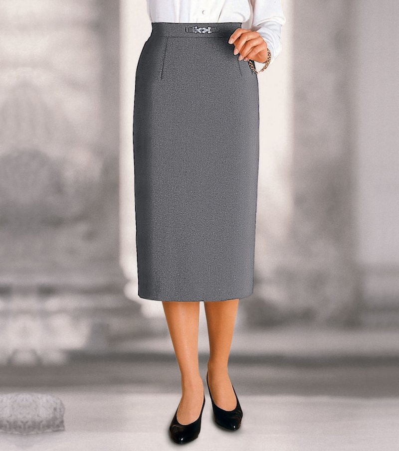 Falda mujer larga elástica