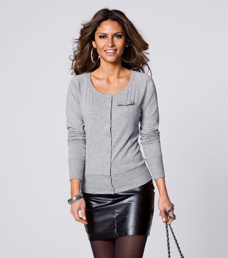 Mini falda mujer de polipiel - Negro
