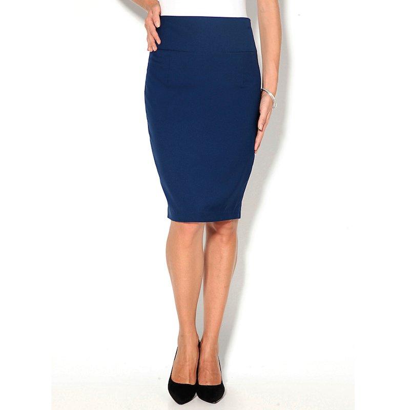 Falda de vestir mujer corte pincel con pinzas