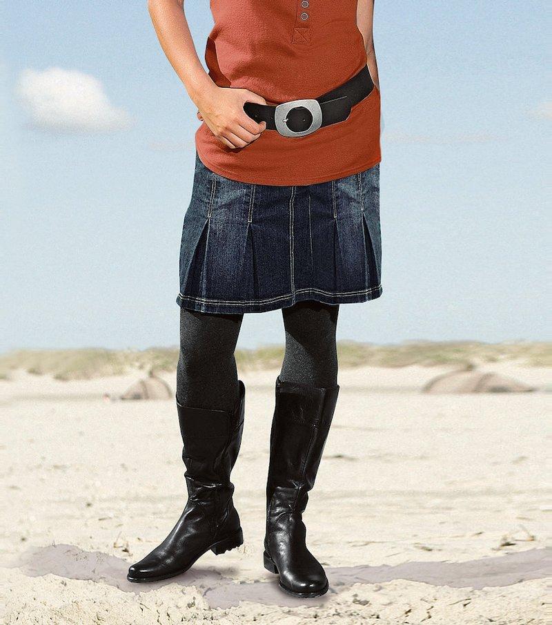 Falda vaquera jeans mujer elástica