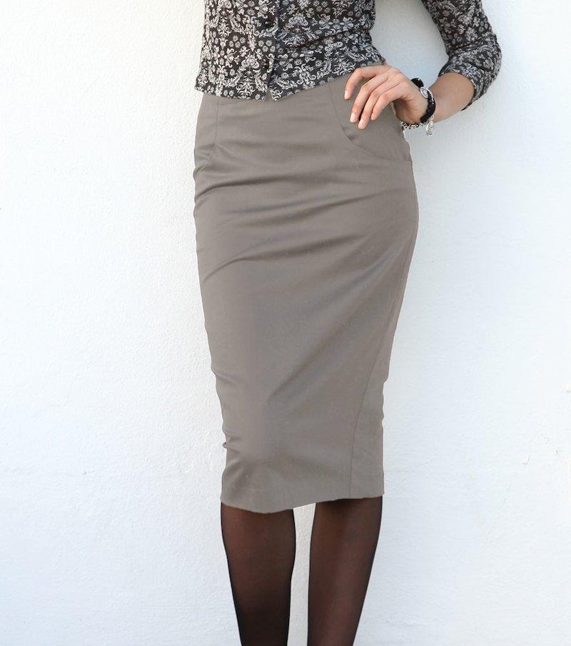 Falda larga mujer elástica