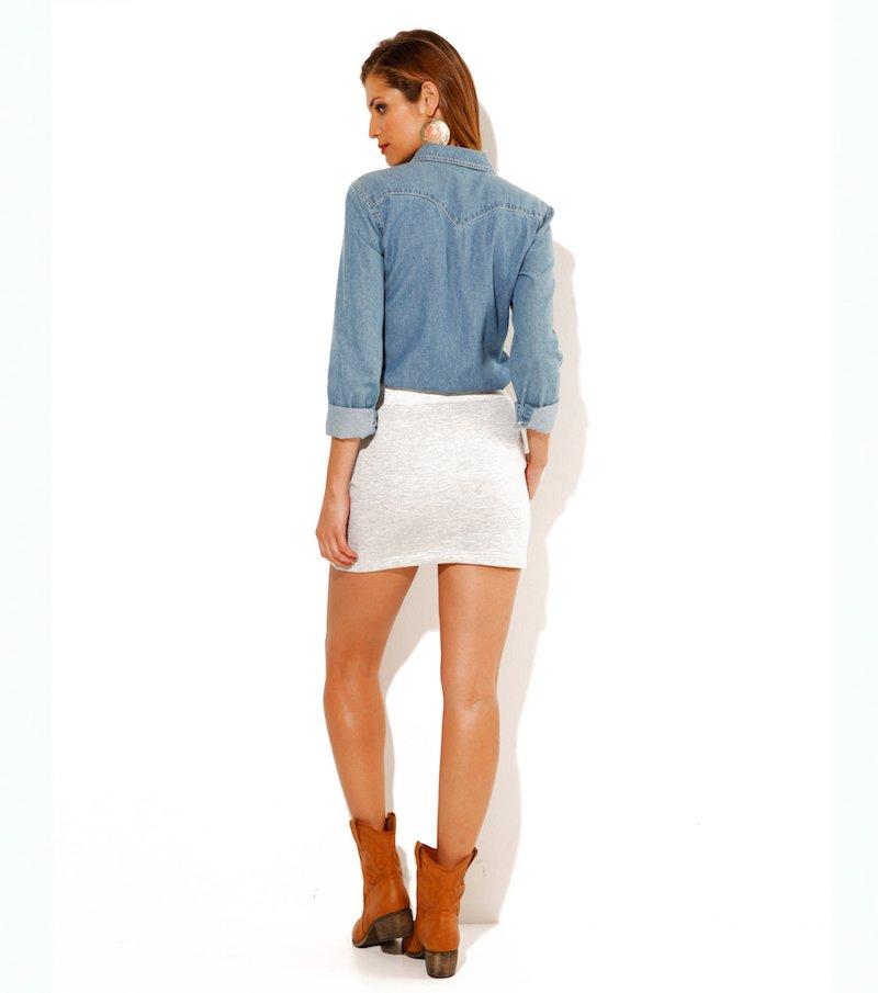 24d1be9ea Falda larga pincel adaptable punto neopreno elástico