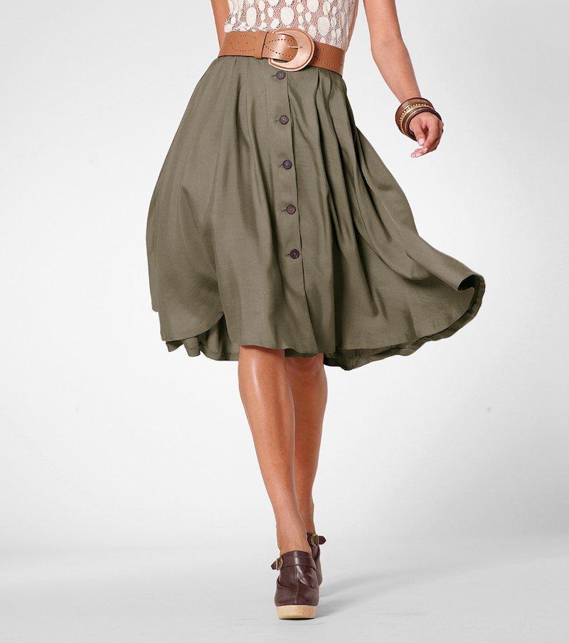Falda larga mujer con vuelo 100% viscosa