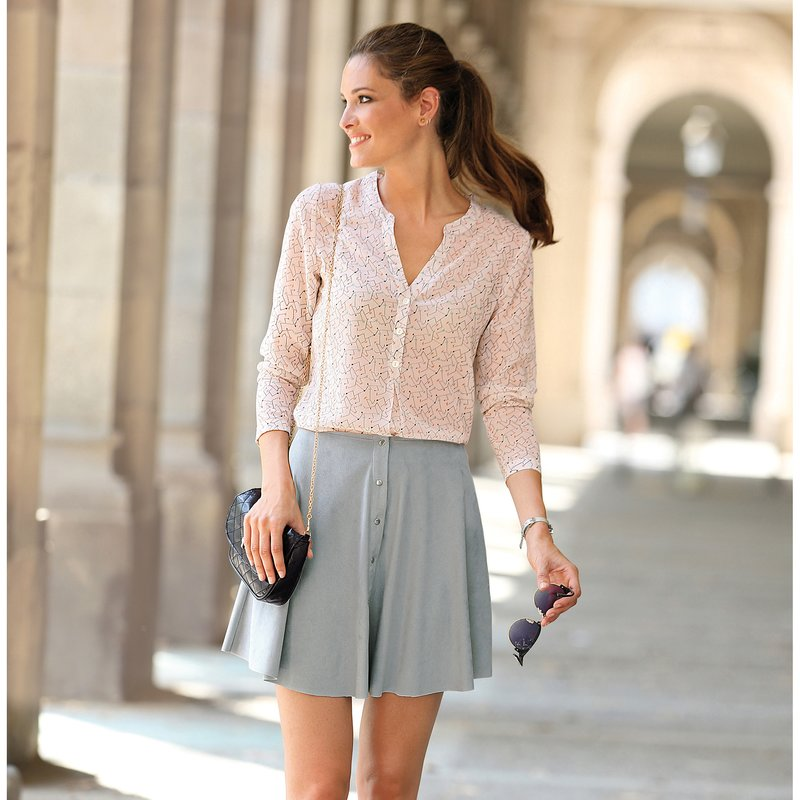 Falda para mujer en punto de antelina elástica