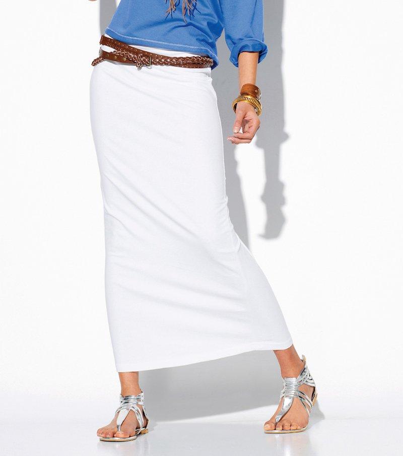 Falda larga mujer punto elástico