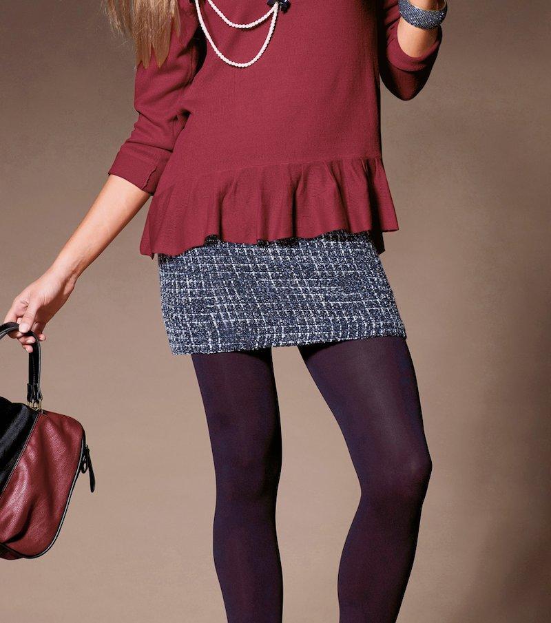 Falda corta mujer forrada tweed