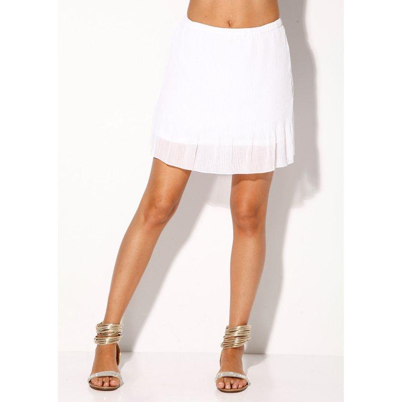 Falda corta mujer plisada cinturilla elástica