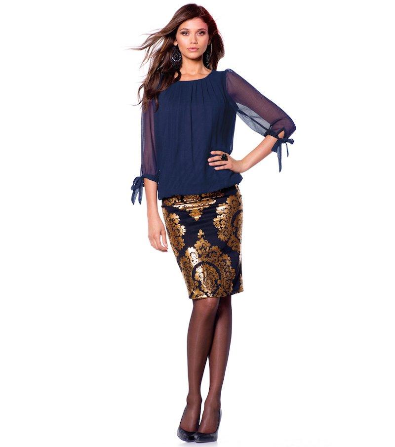 Falda mujer estampada estilo barroco punto