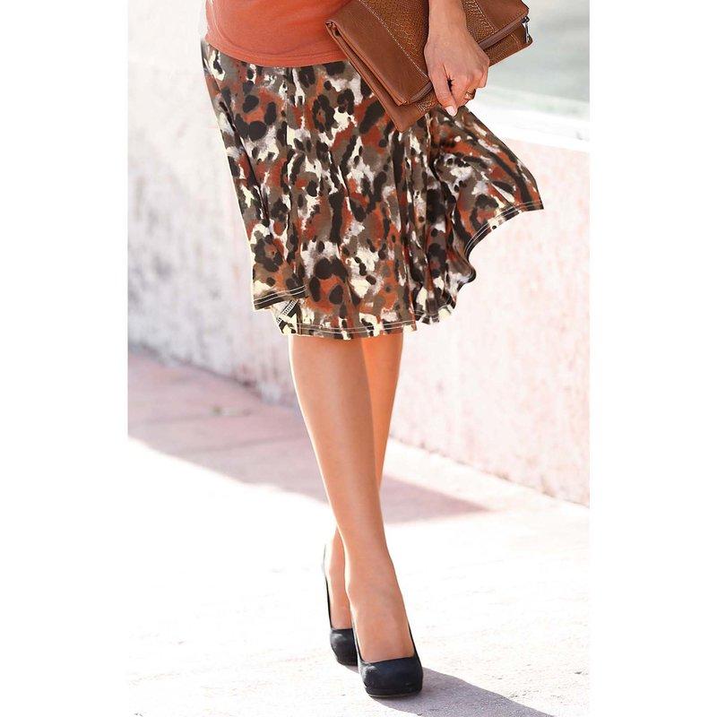 Falda de cintura elástica punto estampada