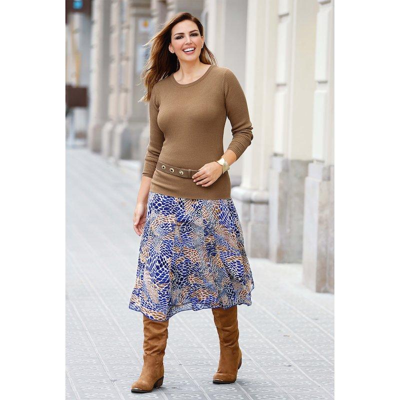 Falda larga mujer estampada