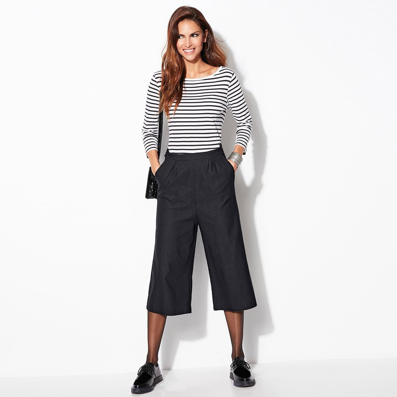 Falda pantalón de punto elástico mujer