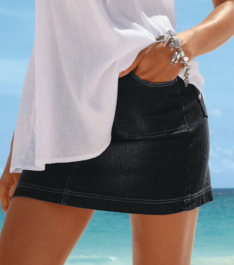 Minifalda de tejido elástico - Blanco