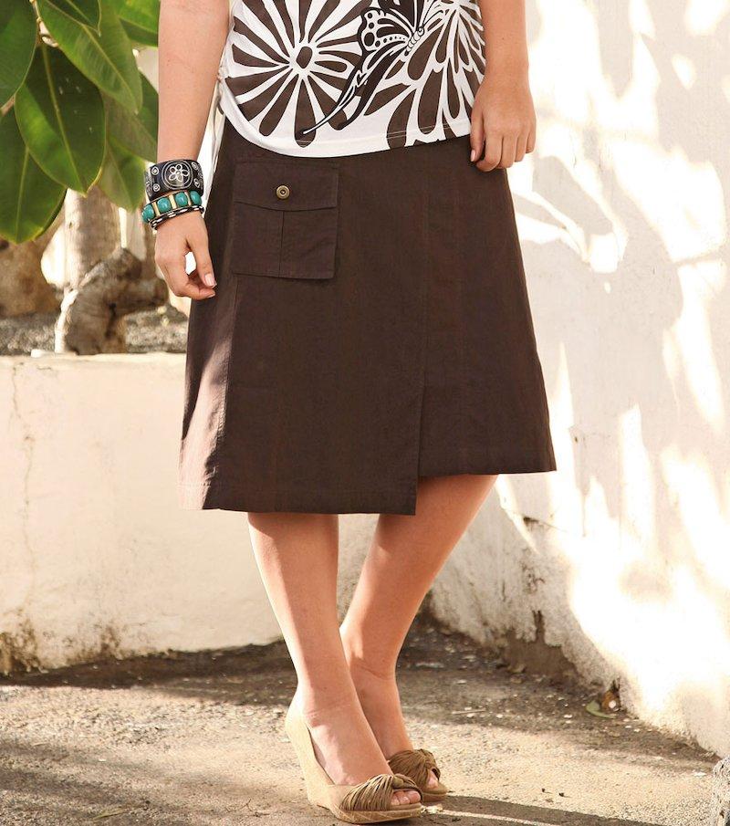 Falda larga para mujer 100% algodón