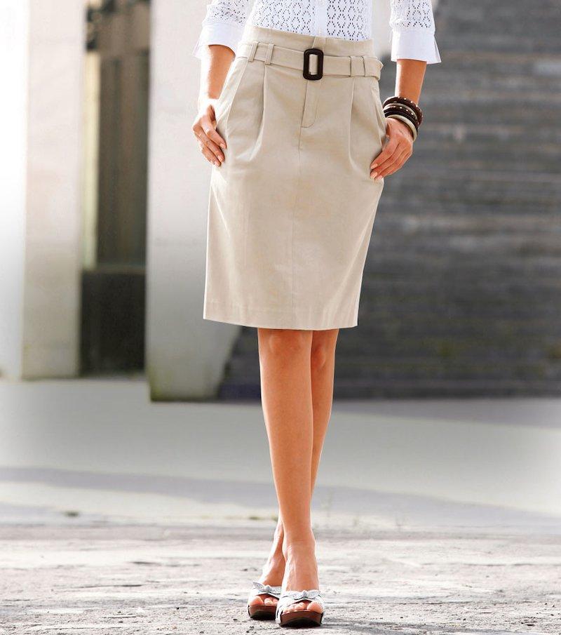 Falda alta mujer con cinturón