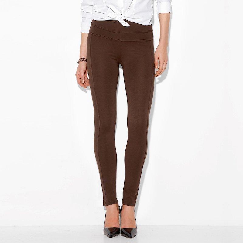 Pantalón largo tregging mujer punto elástico