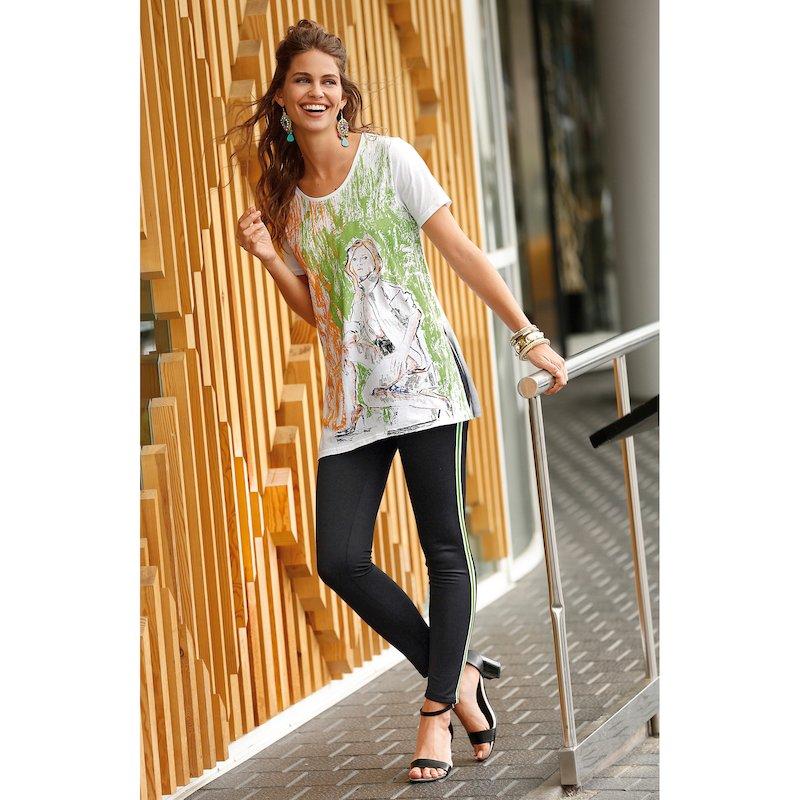Pantalón tregging mujer sport con banda lateral
