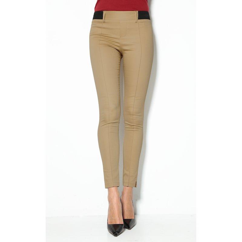 Pantalón largo tregging mujer con bandas elásticas