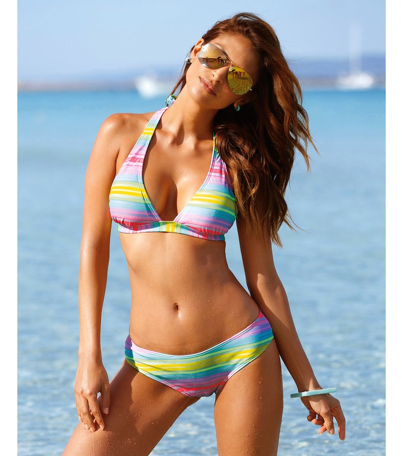Bikini 2 piezas mujer triángulo con relleno