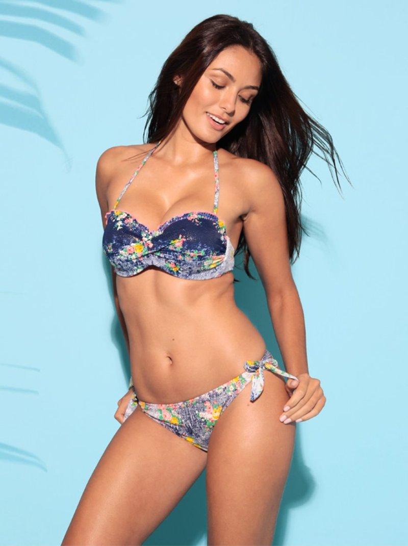 Bikini 2 piezas mujer bandeau estampado flores