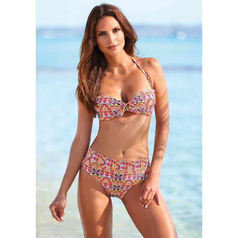 Bikini bandeau étnico mujer de sujetador y braga alta