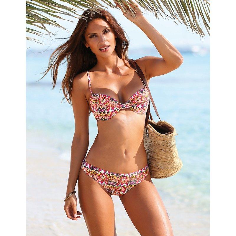 Bikini étnico 2 piezas mujer sujetador copa B con aros