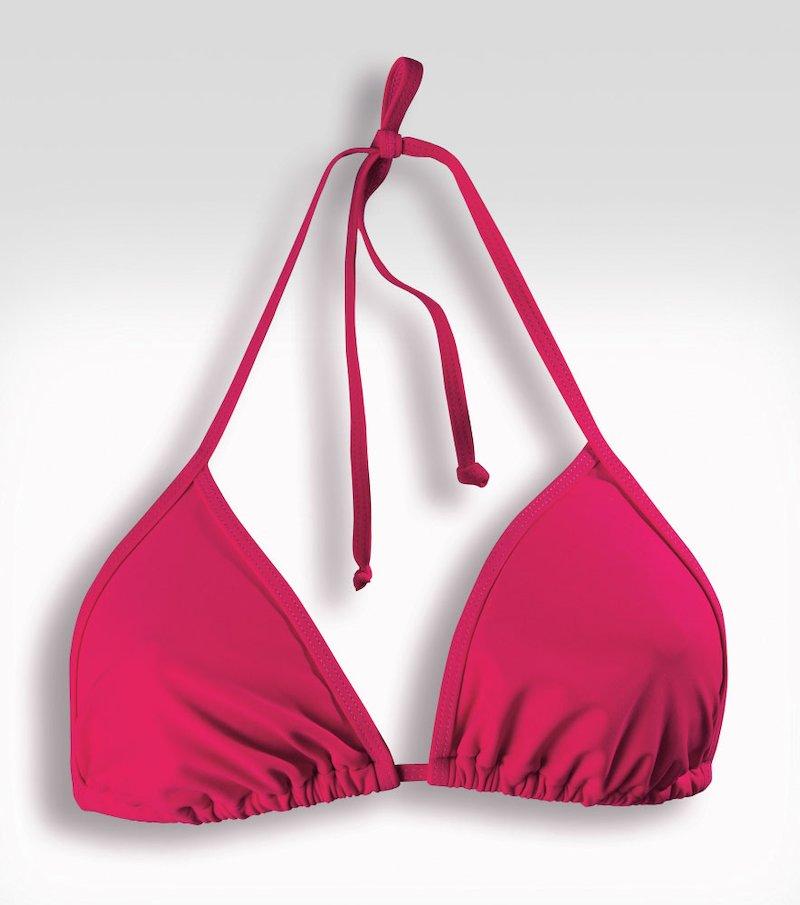 Sujetador bikini mujer corte triángulo
