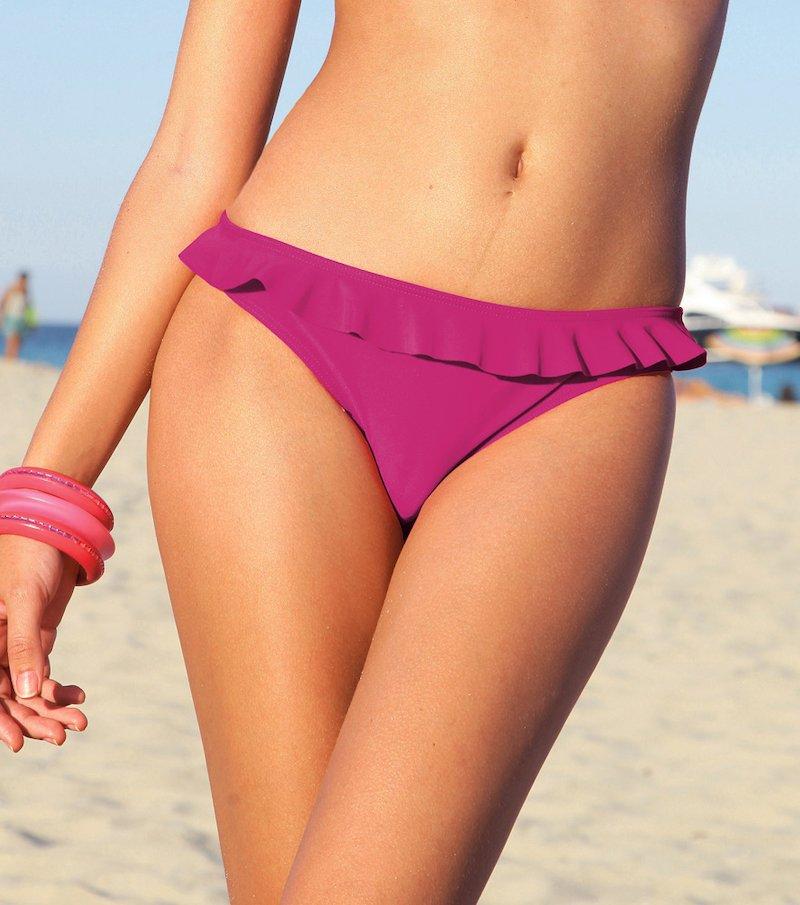Braga bikini mujer con volante a tono