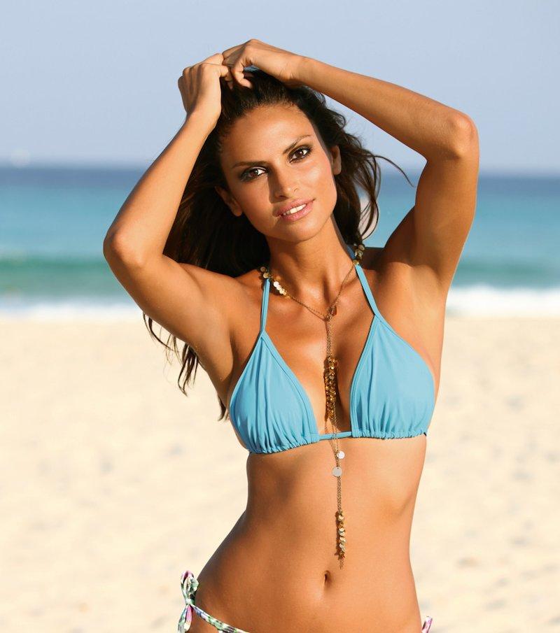Sujetador de bikini mujer corte triángulo