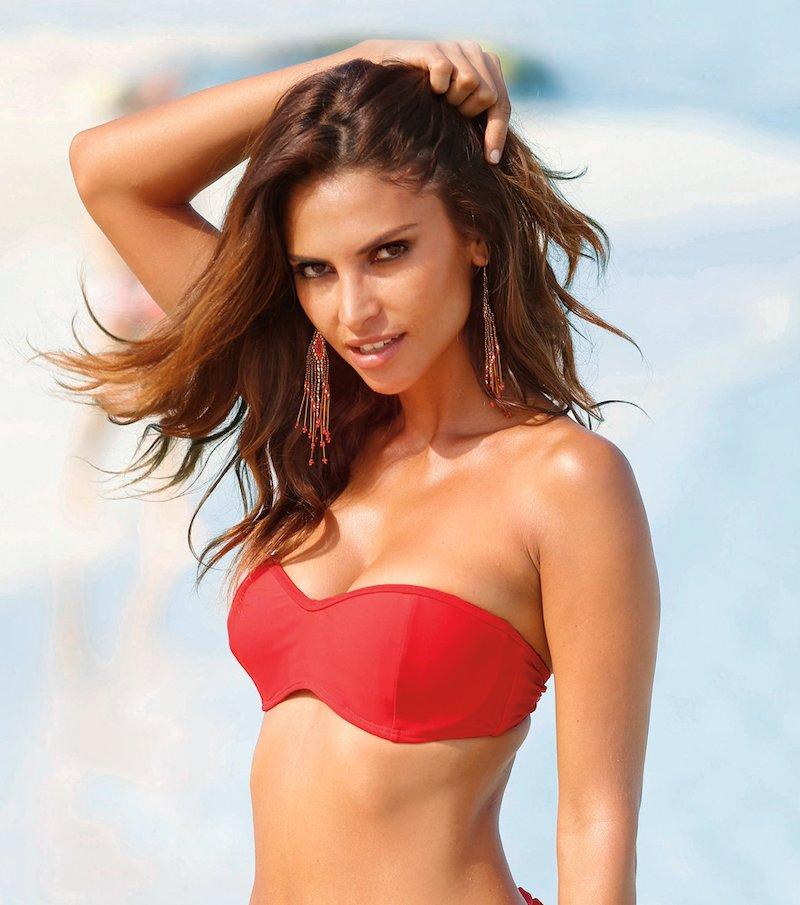 Sujetador de bikini bandeau con aros y relleno
