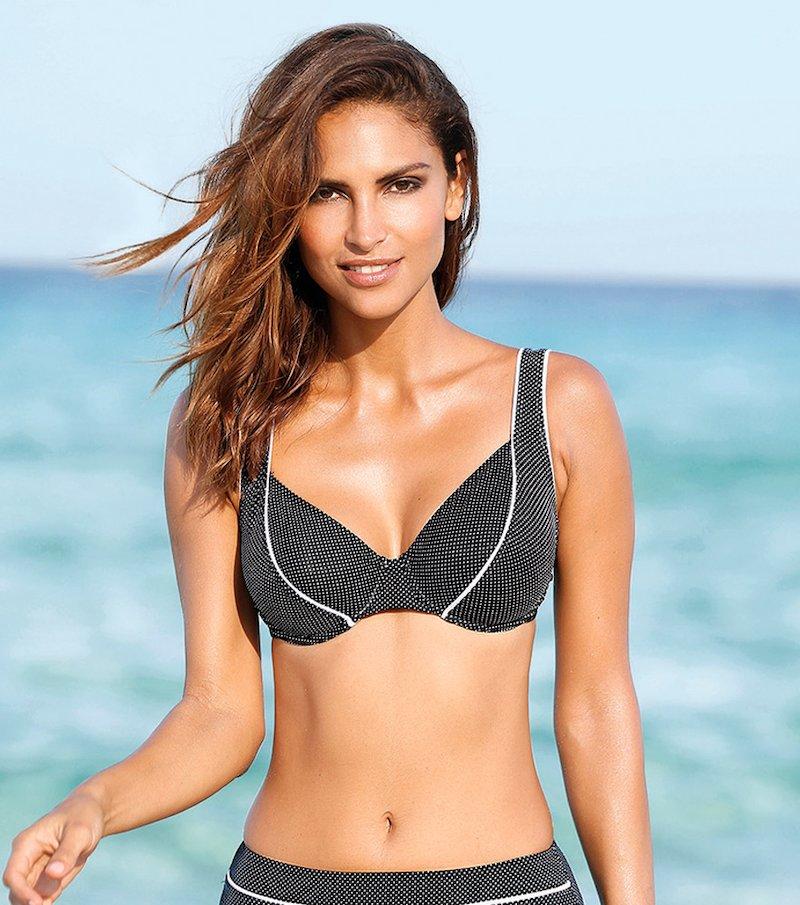 Sujetador de bikini mujer copa C con aros