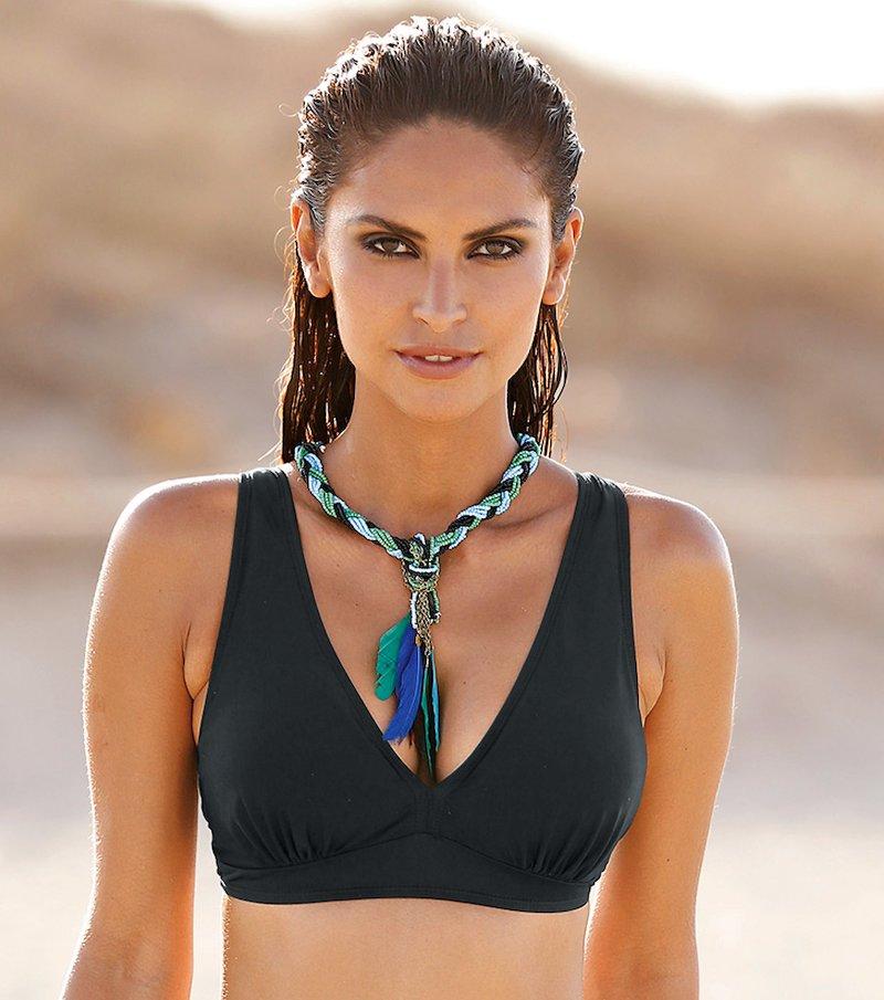 Sujetador de bikini mujer triángulo con relleno