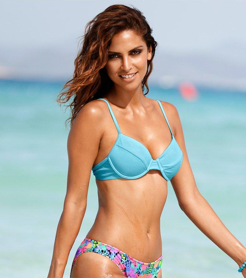 Sujetador bikini mujer con relleno y aros