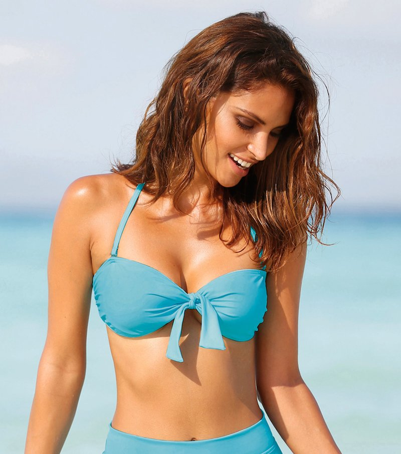 Sujetador bikini bandeau mujer con aros