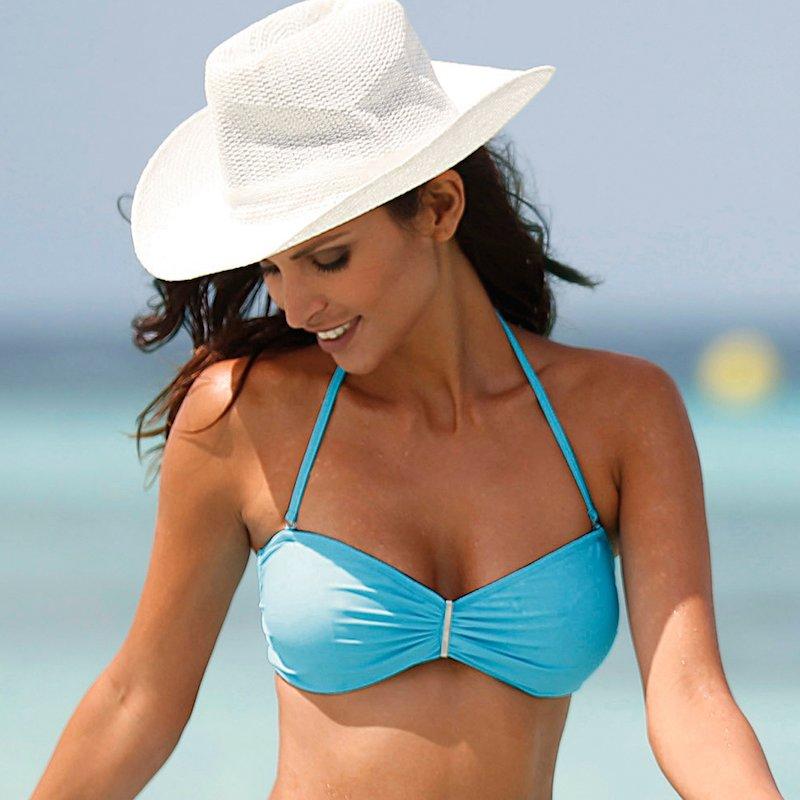 Sujetador bikini copa B con tirantes quita y pon