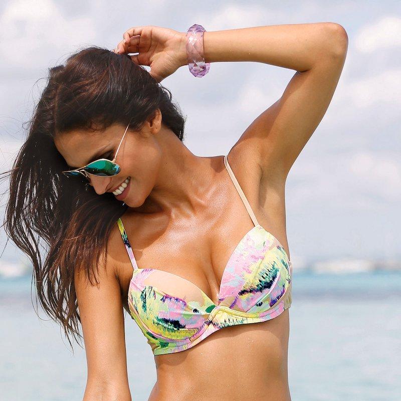 Sujetador de bikini push up printed
