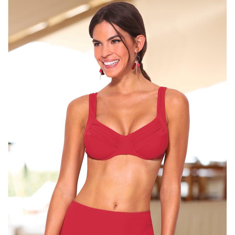 Sujetador bikini copa C grandes bustos drapeado