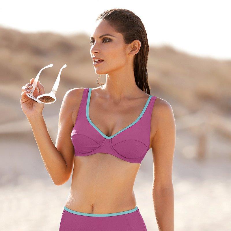 Sujetador de bikini copa B con aros y vivo