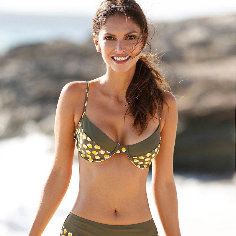 Sujetador bikini copa B con aros y tirantes regulables