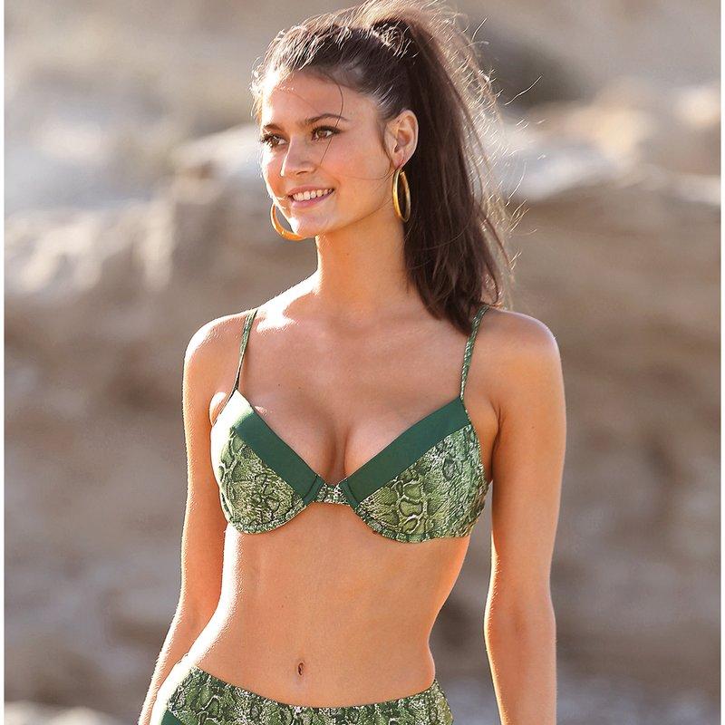 Sujetador bikini copa B con aros para mujer