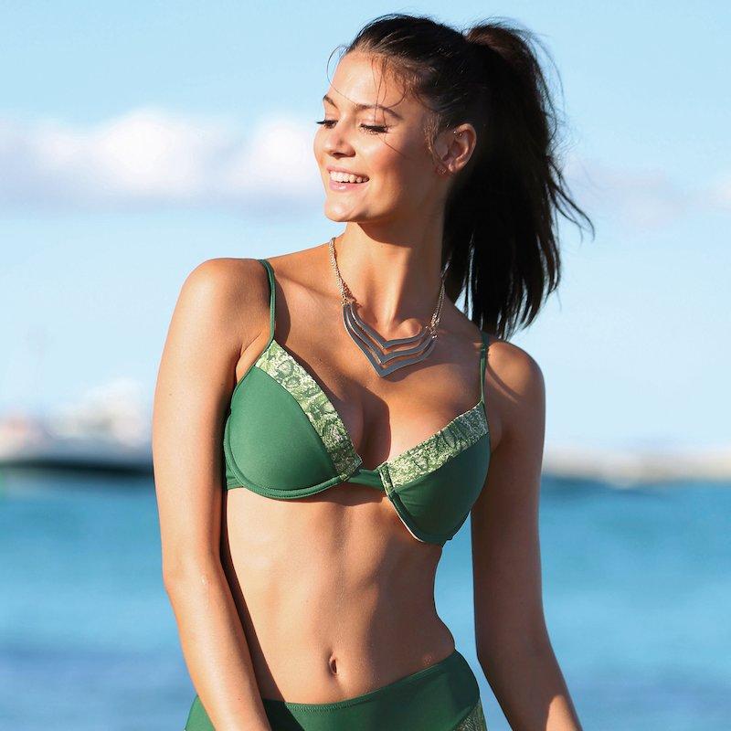 Sujetador de bikini mujer copa B con aros