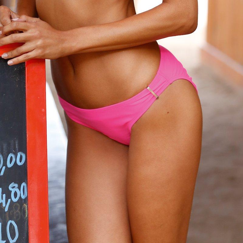 Braga de bikini mujer con detalle metálico - Rosa