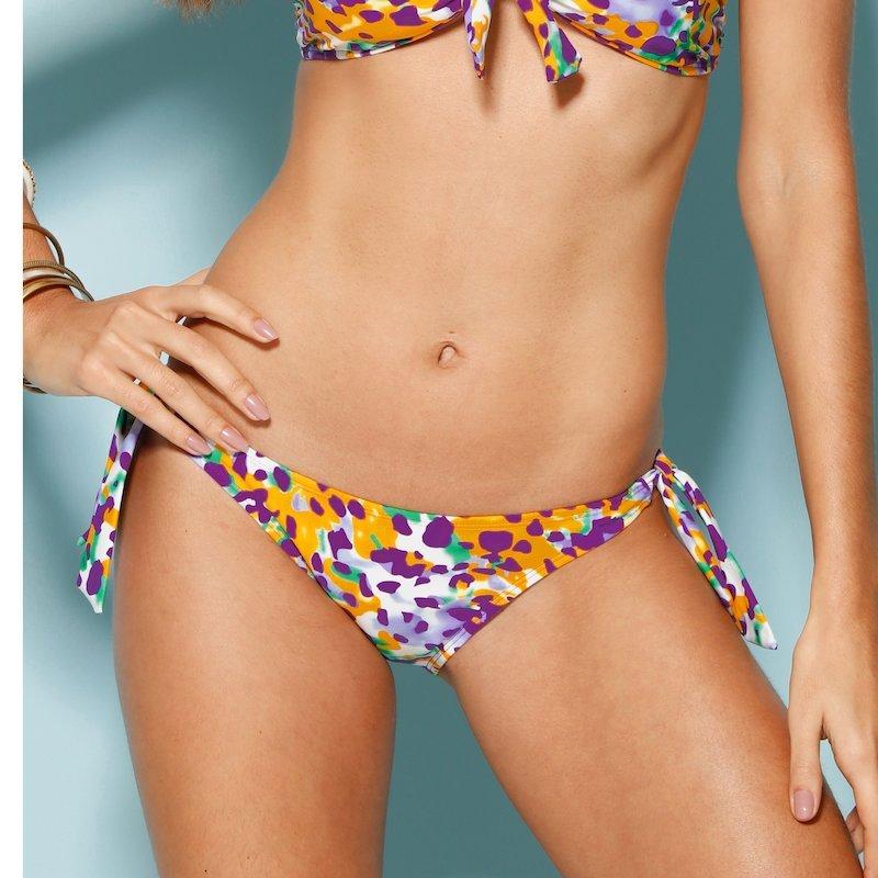 Braga bikini mujer anudada print multicolor - Lila