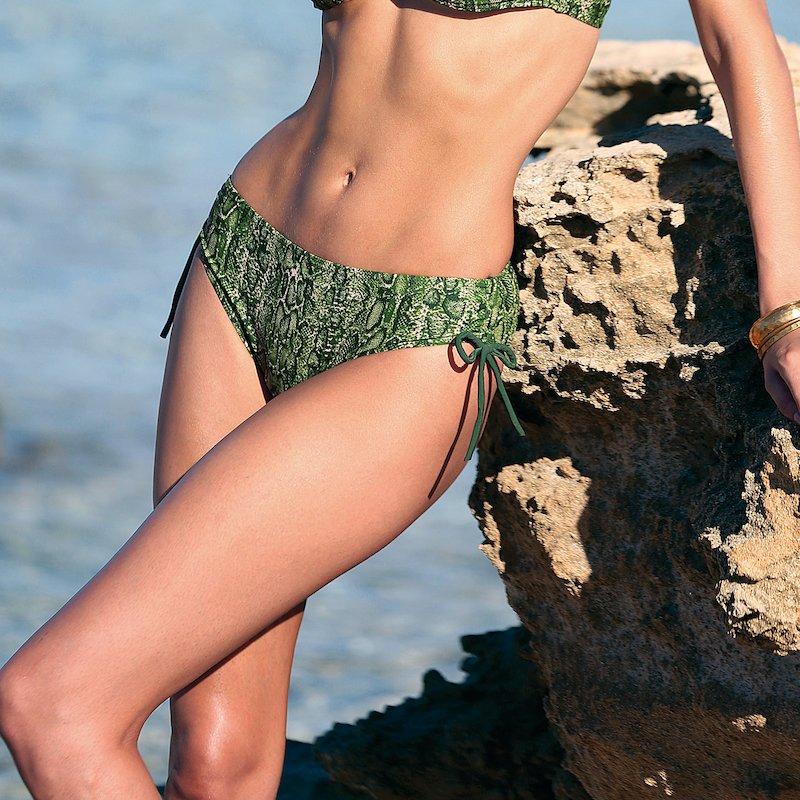 Braga bikini combinable estampada mujer con lazos