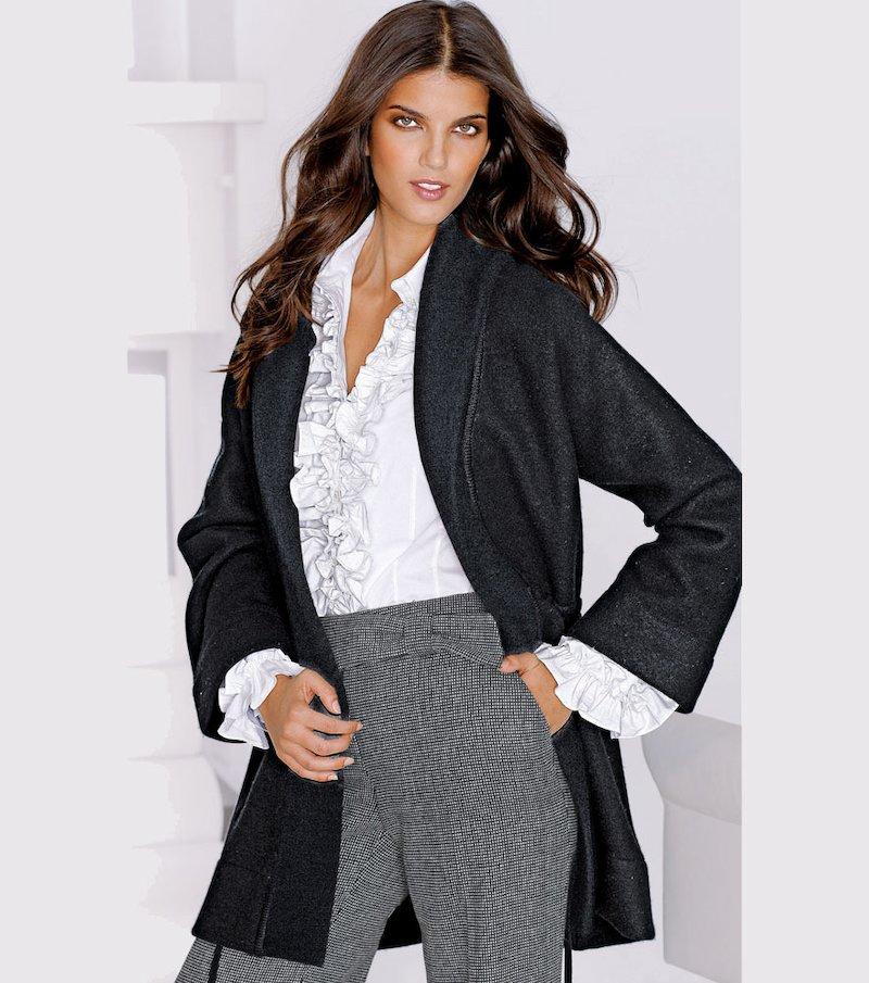 Chaqueta abrigo mujer de punto tricot